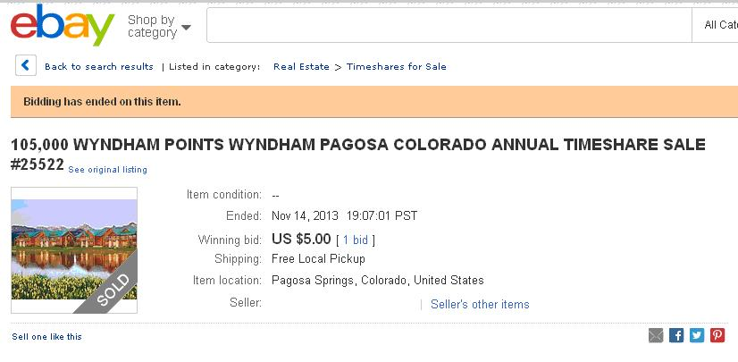 wyndham pagosa timeshare resale