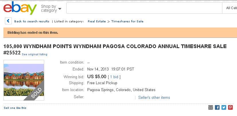 wyndham pagosa timeshare resale