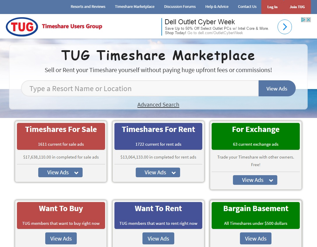 Free Timeshare Classified Ads screenshot