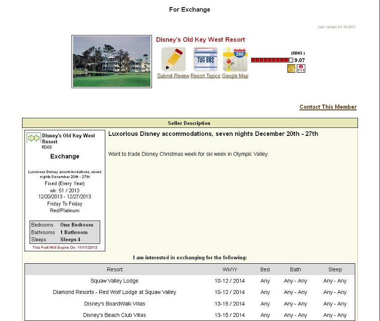 free timeshare exchanges